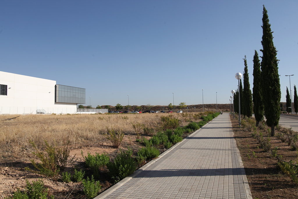 Projected WEDISTRICT test site for a new solar park and biomass boiler in Alcalá, Spain